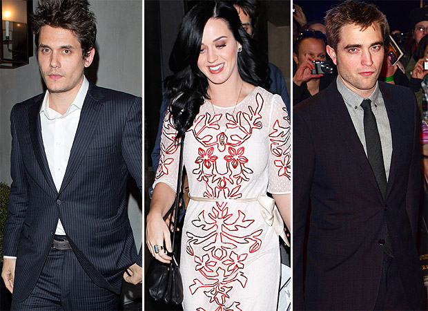 John Mayer, Katy Perry, and Robert Pattinson (Splash News)