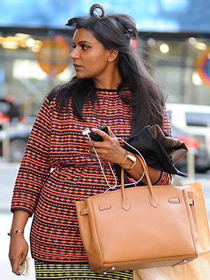 Mindy Kaling on her way into NBC Studios... (Splash News)