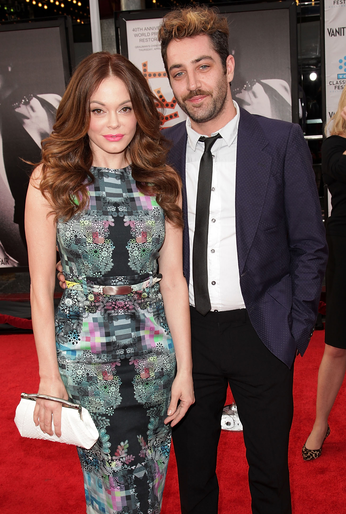 Rose McGowan and Davey Detail (Getty Images)
