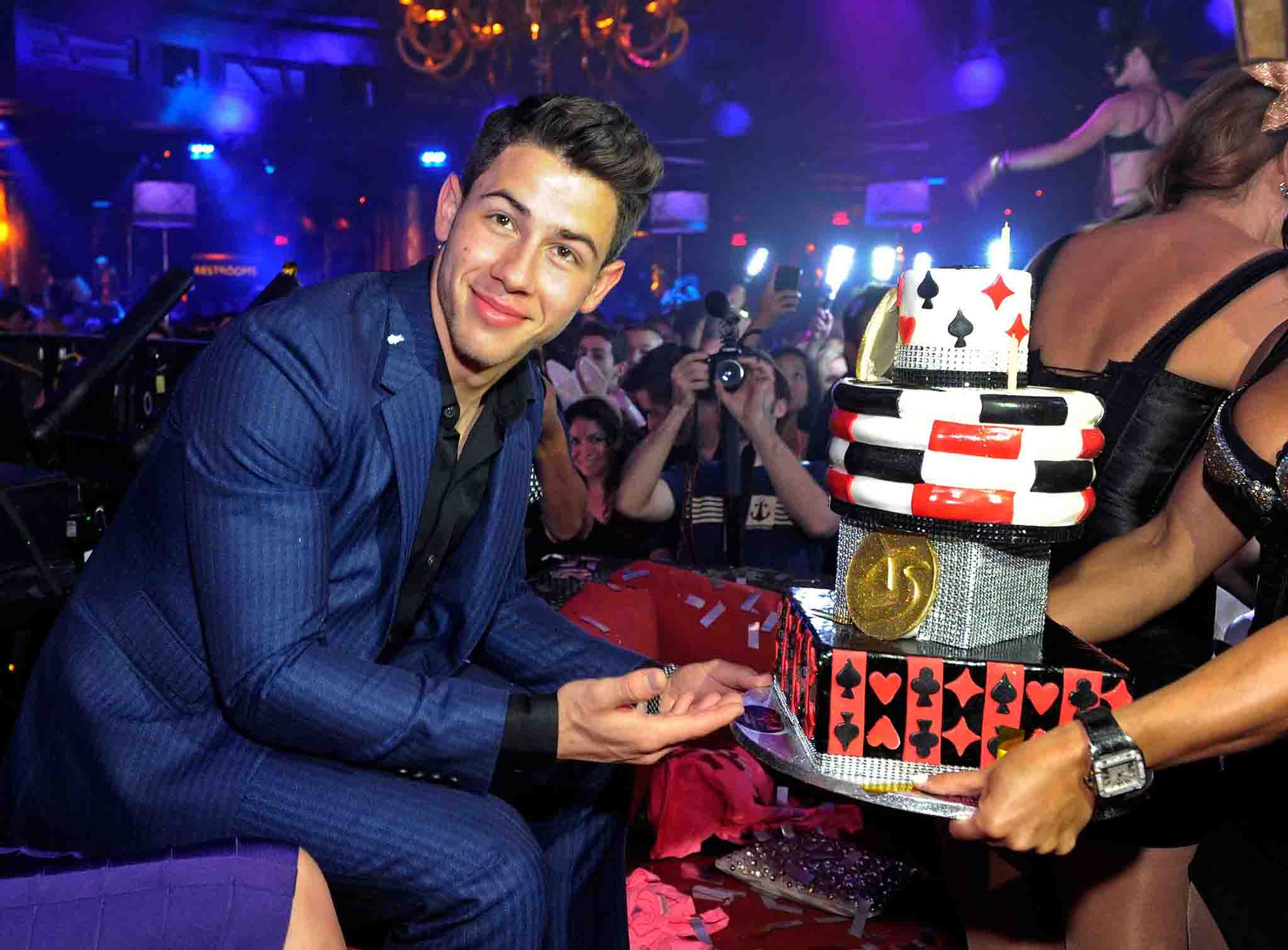 Nick Jonas and his 21st Birthday Cake (WireImage)