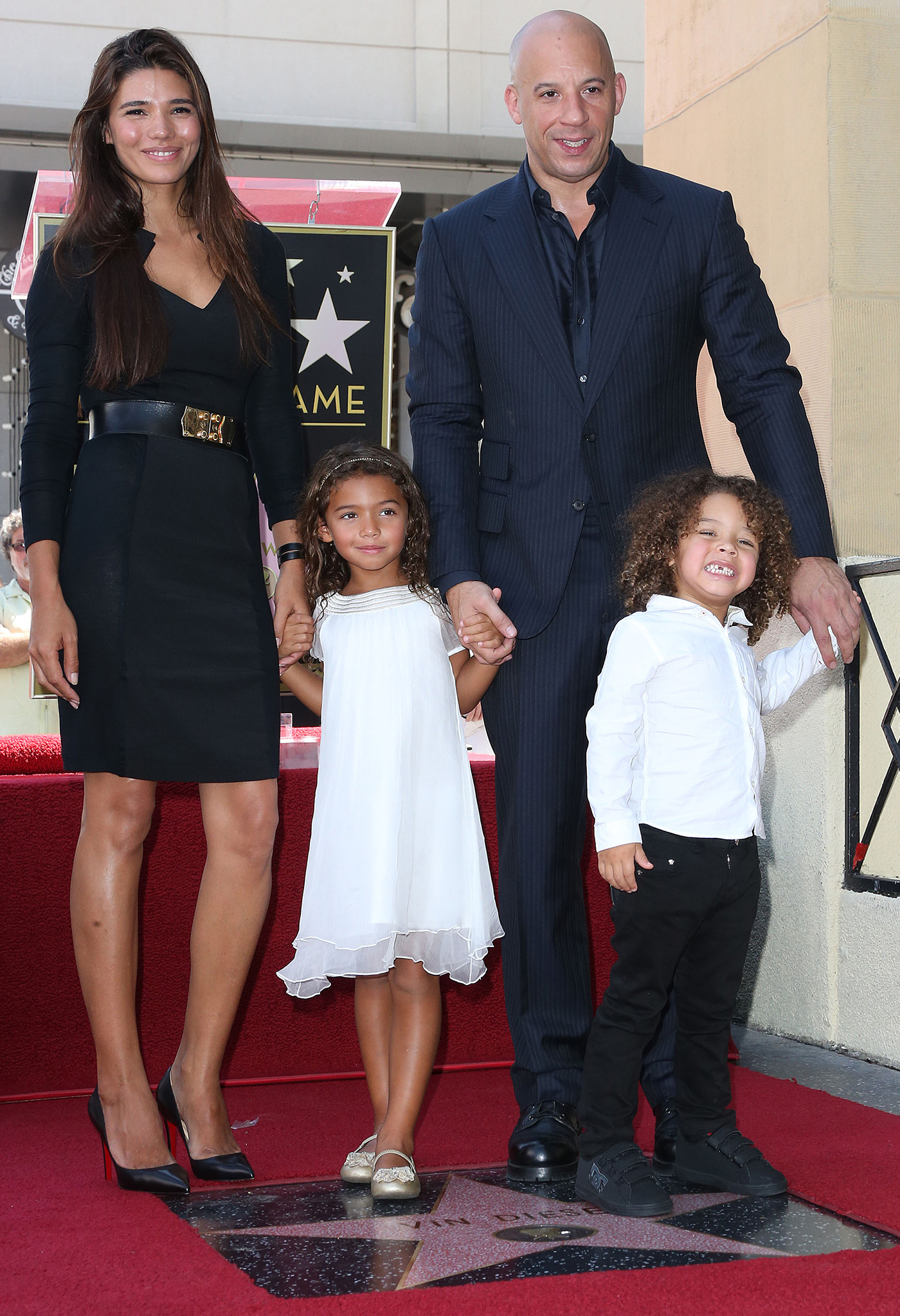 Vin Diesel with the fam (Getty Images)