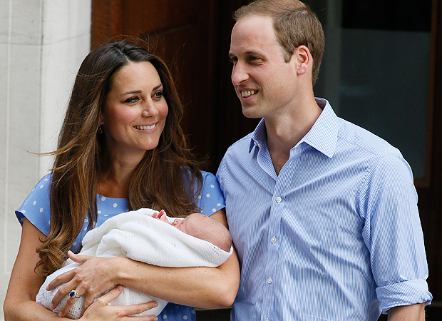 Kate Middleton and Prince William debut the Prince of Cambridge (AP Photo)