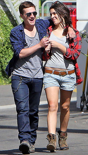 Josh Hutcherson and Claudia Traisac in L.A. (FameFlynet)