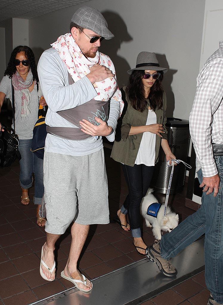 Channing Tatum, Everly, and Jenna Dewan-Tatum (FameFlynet)