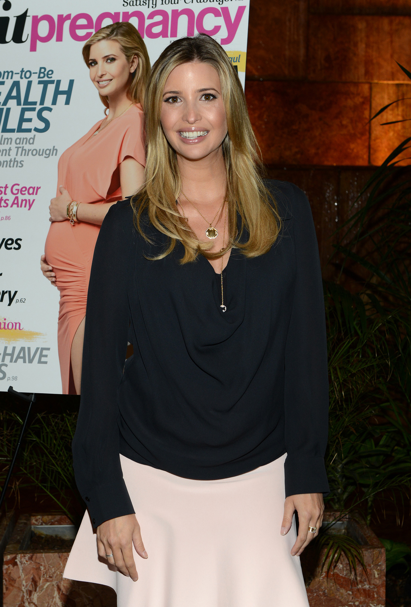 Ivanka Trump celebrating Fit Pregnancy's October/November issue. (Getty Images)