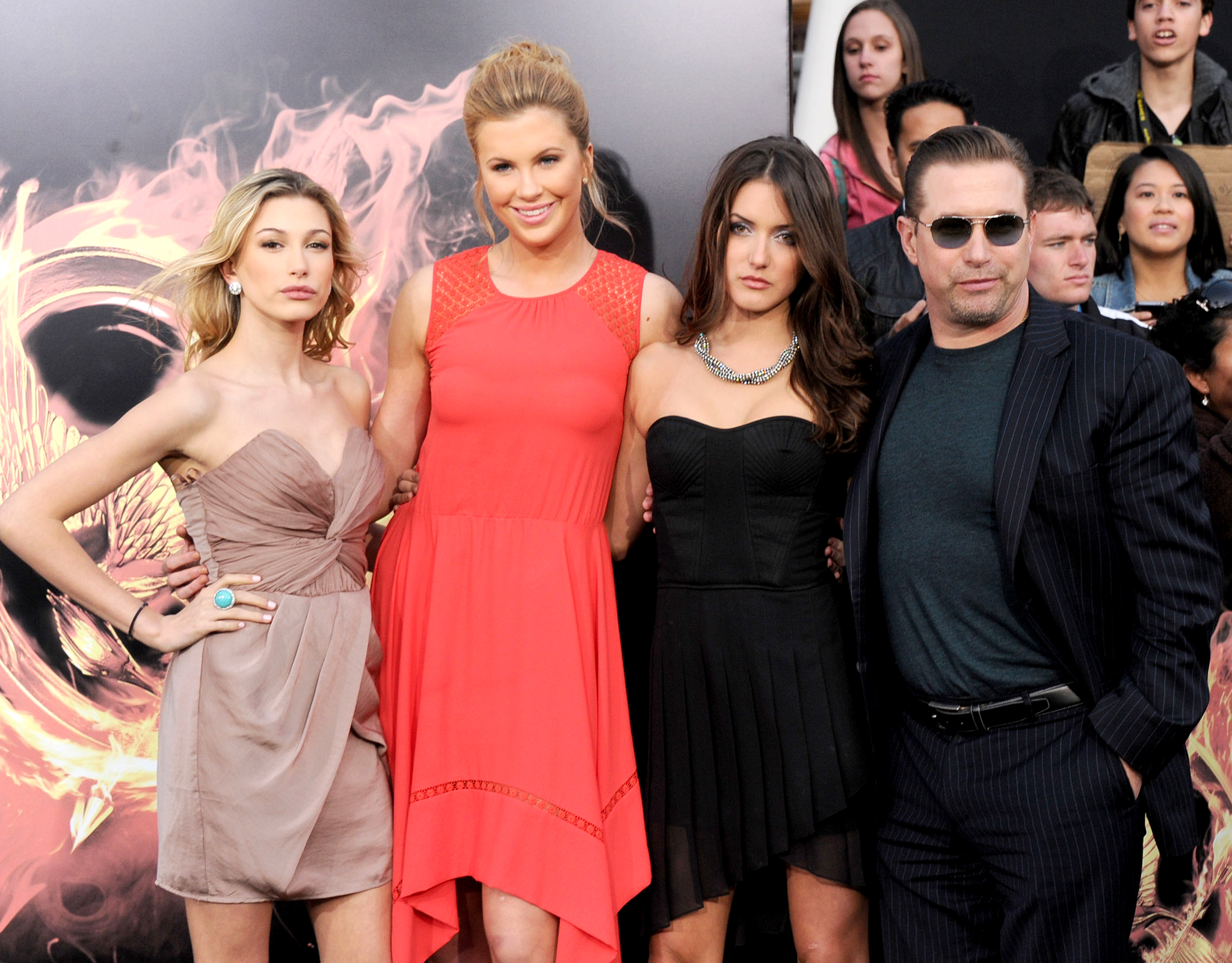 The model with her extended family at the 'Hunger Games' premiere in March. (Gregg DeGuire/FilmMagic)