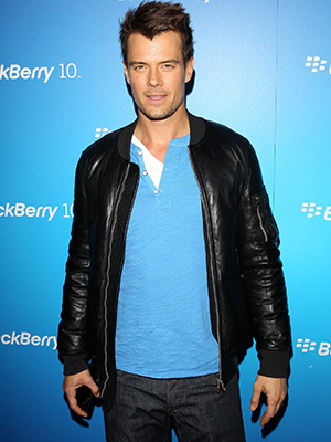 Josh Duhamel at Blackberry's Z10 event (Getty Images)