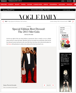 Screenshot of Vogue's Best Dressed List with no Kim K (Vogue.com)