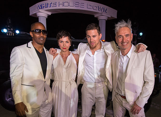 Jamie Foxx, Maggie Gyllenhaal, Channing Tatum, and Roland Emmerich (Christopher Polk/Getty Images)