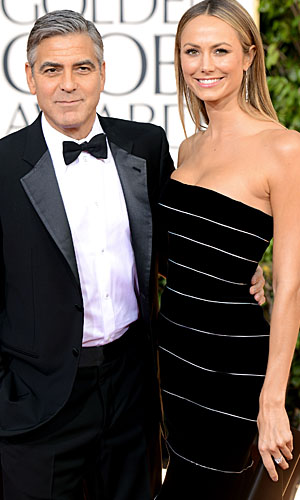 George Clooney and Stacy Keibler (Wireimage)