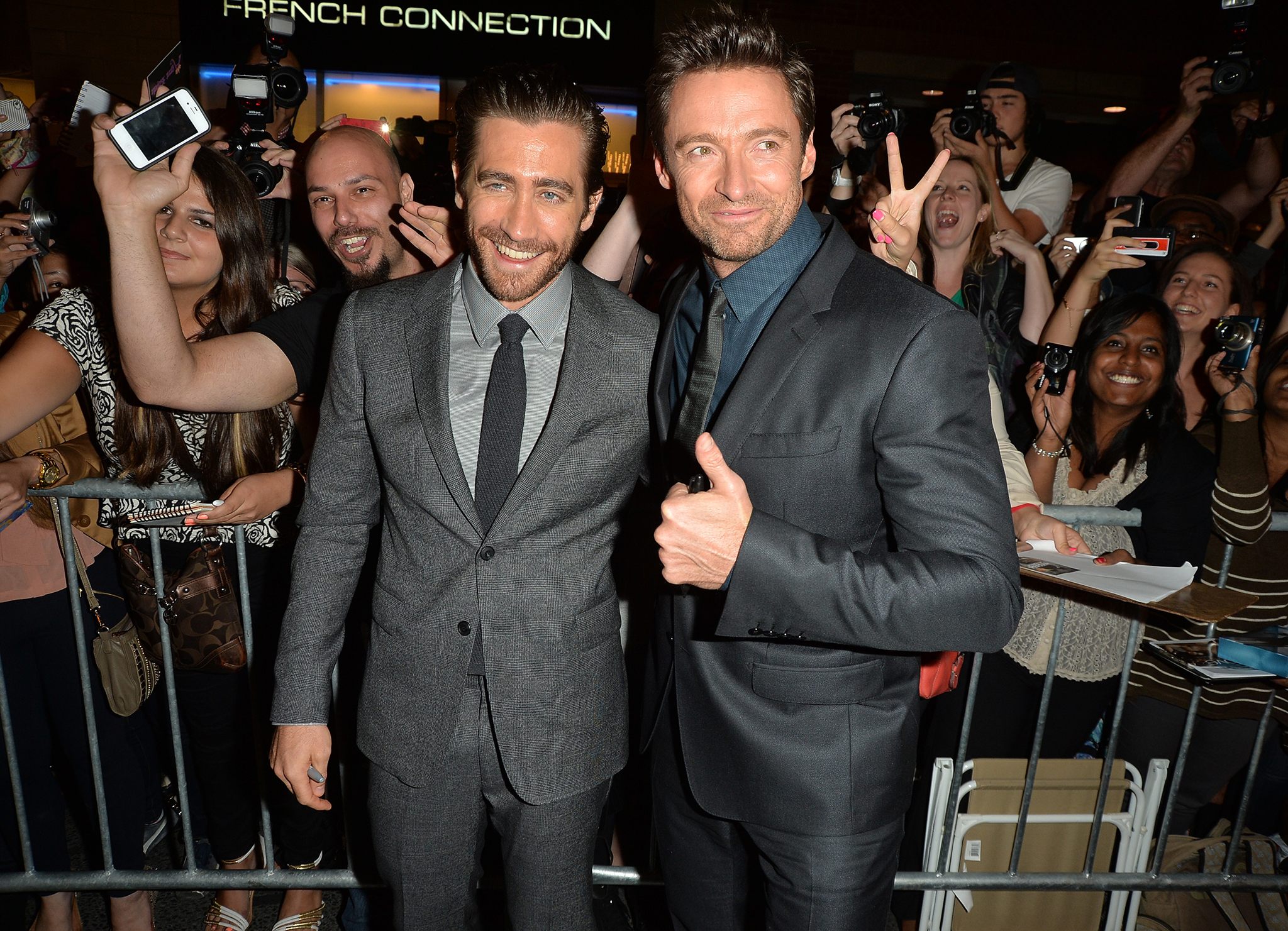 Jake Gyllenhaal and Hugh Jackman at