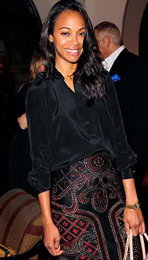 Zoe Saldana in Prabal Gurung (Charley Gallay/Getty Images)