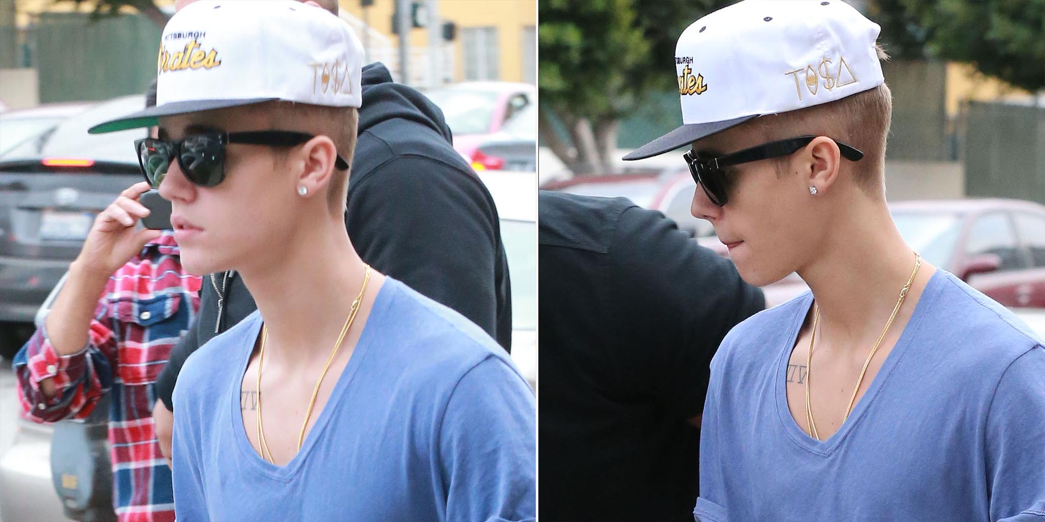 Justin Bieber's close cut! (FameFlyNet)