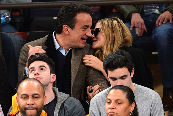 Olivier Sarkozy and Mary-Kate Olsen at Madison Square Garden (WireImage)