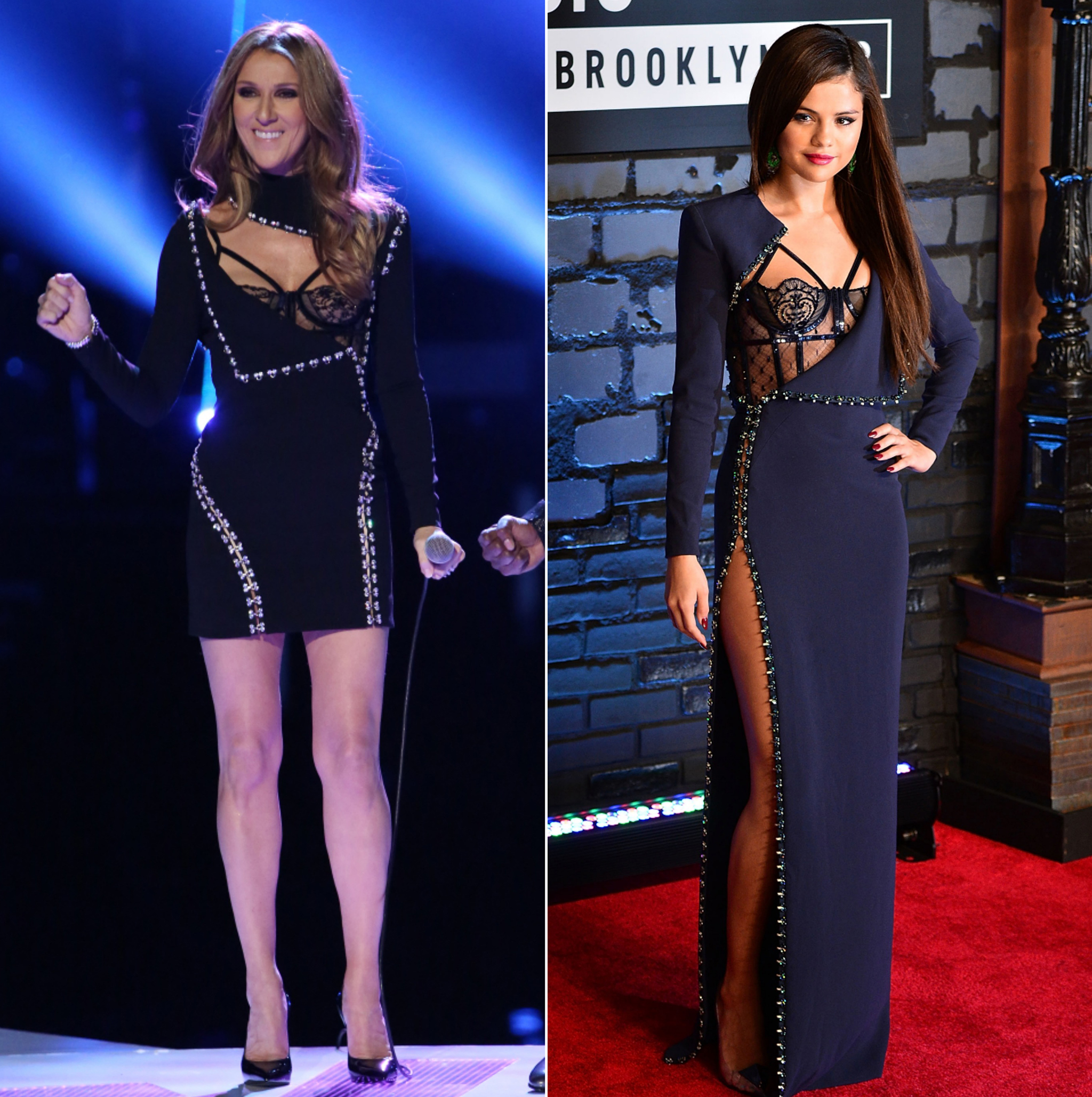 Celine Dion vs. Selena Gomez (Getty)