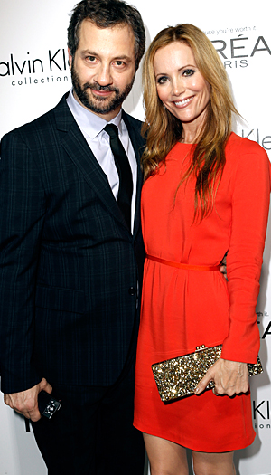 New Malibu residents Judd Apatow and Leslie Mann. (Getty Images)