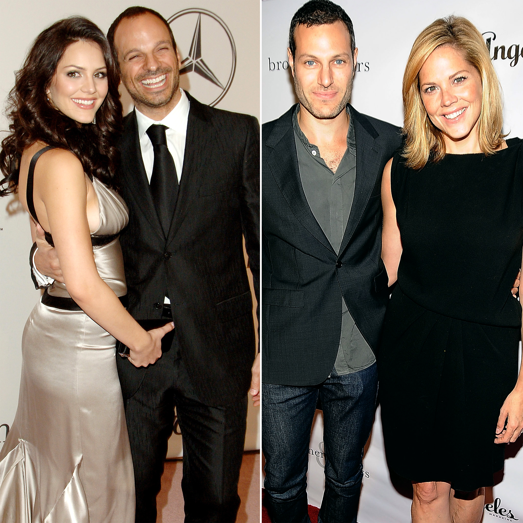 Katharine McPhee with her husband, Nick Cokas, and Michael Morris with his wife, Mary McCormack (Getty Images)