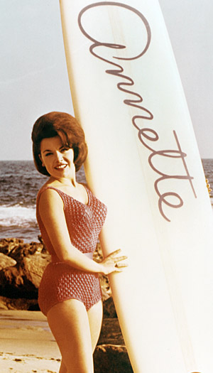 Annette Funicello in the 'Beach Party' movies of the 1960s (Everett Collection)