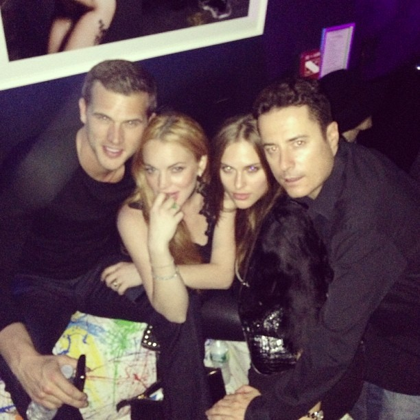 Lohan posted a pic with Nordgren last week. (Instagram)