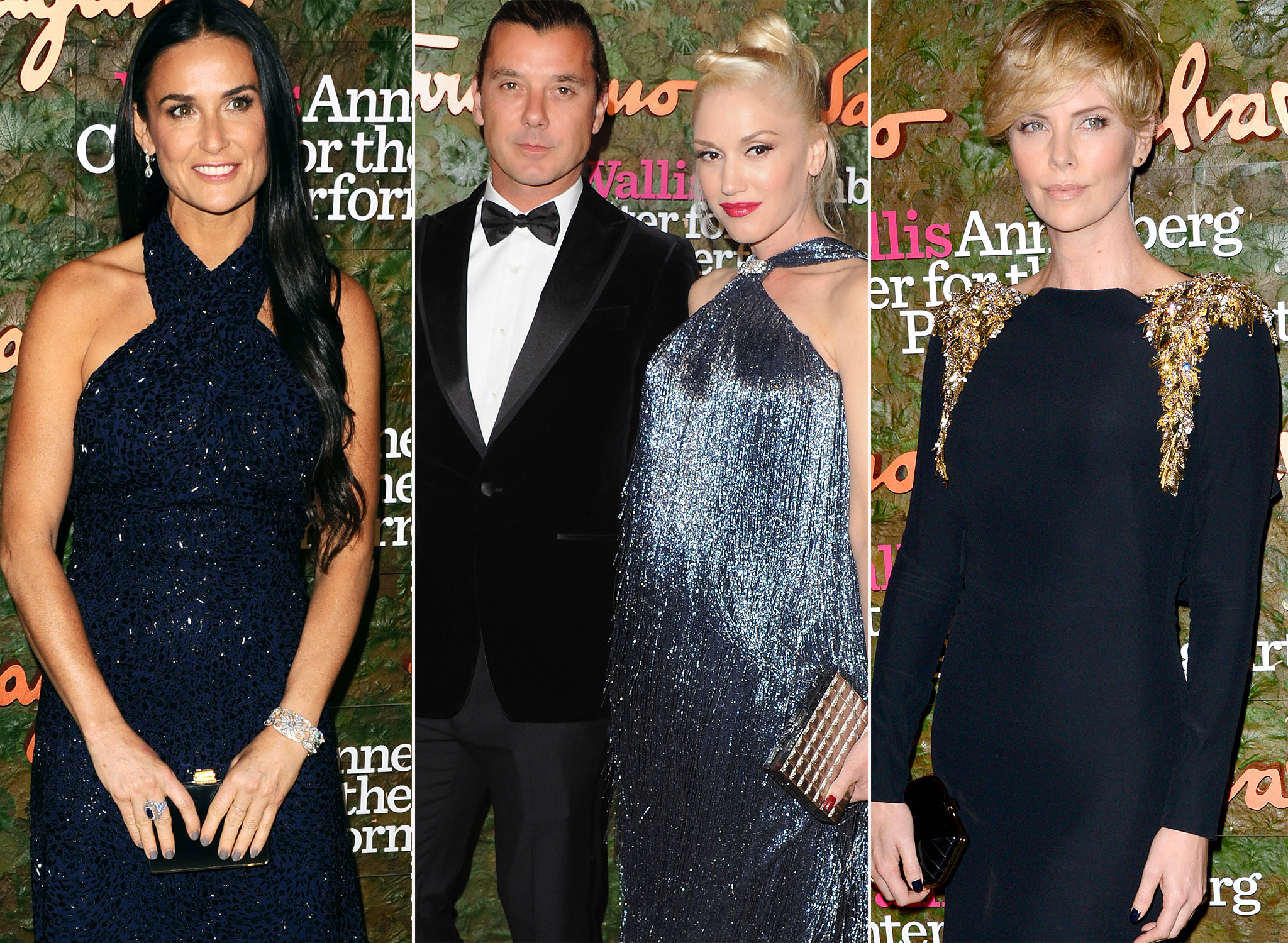 Demi Moore, Gavin Rossdale and Gwen Stefani, Charlize Theron (Startraks/WireImage)