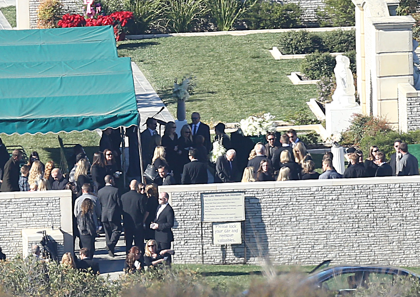 Paul Walker's funeral at Forest Lawn cemetery. (Hayk / Splash News)