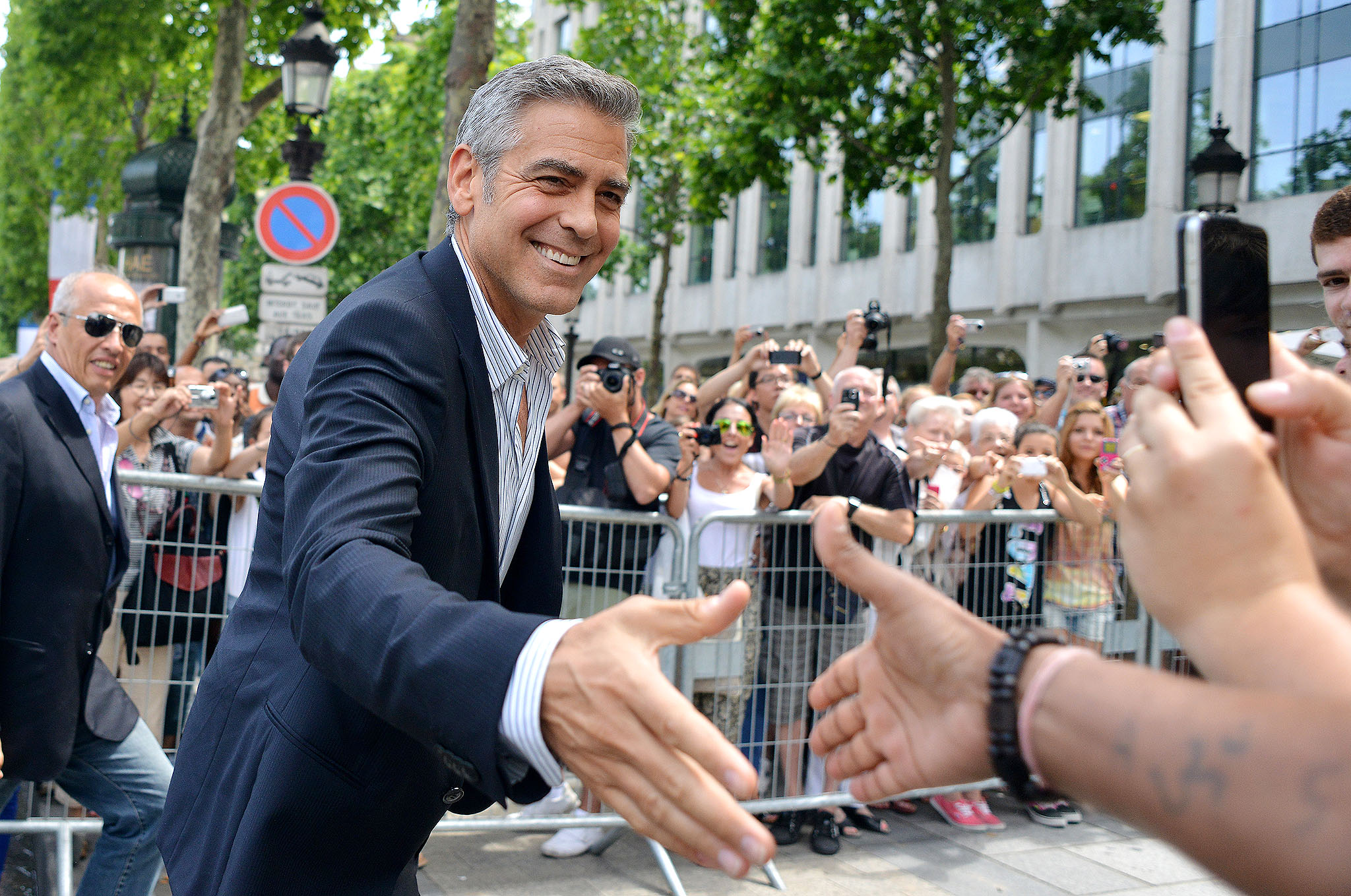 George Clooney heads to Nespresso for a meeting in Paris (Splash News)