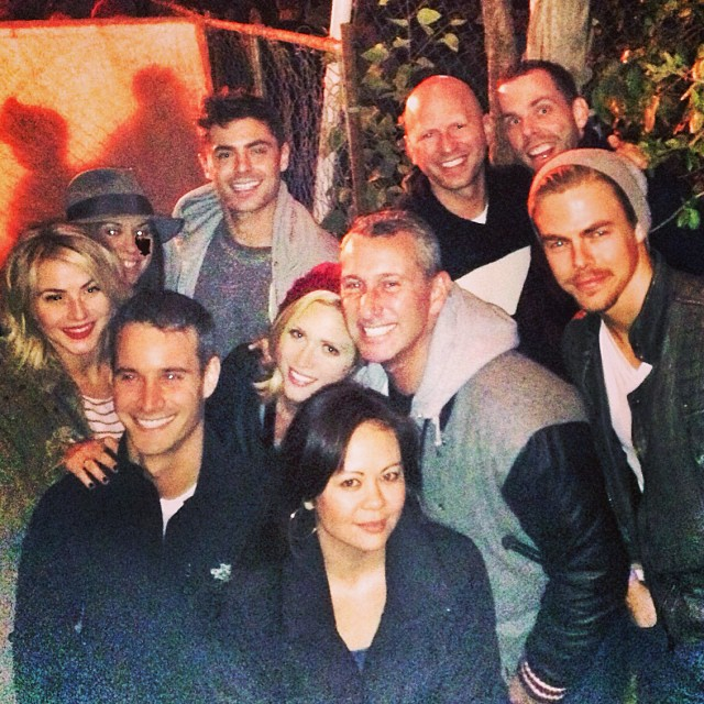 Zac and his gang at the Hayride (Instagram/Derek Hough)