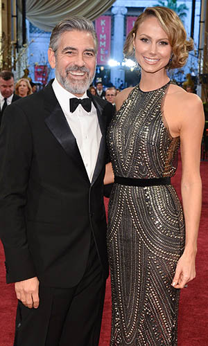 Clooney and Keibler at the 2013 Academy Awards (Getty Images)