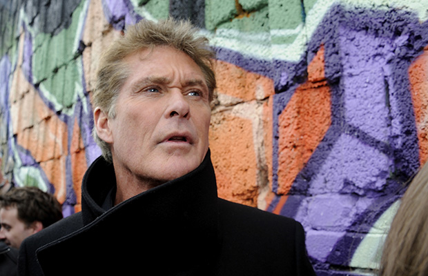 David Hasselhoff at the Berlin Wall (Getty Images)