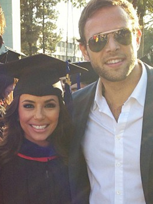 Ernesto Arguello supports Eva Longoria as she receives her Master's degree (Instagram)