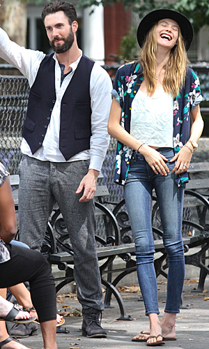 Levine and Prinsloo (Splash News)