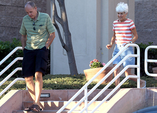 Amanda Bynes's parents leave the hospital Tuesday (Splash News)