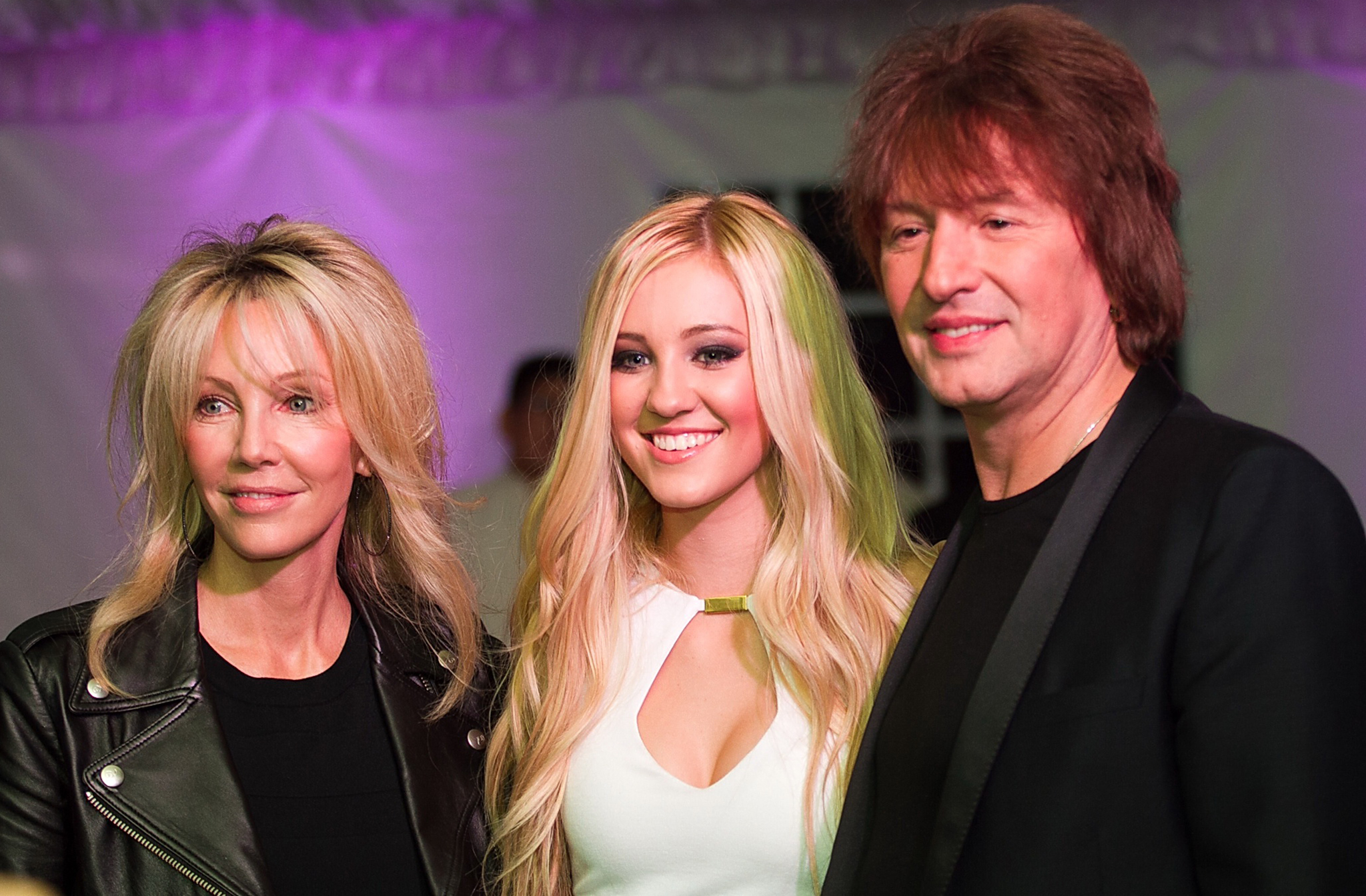 Heather Locklear and Richie Sambora with daughter Ava. (INFDaily.com)