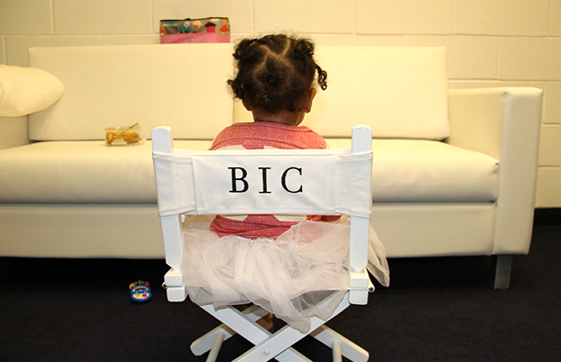 Blue Ivy Carter in her makeup chair (Tumblr)