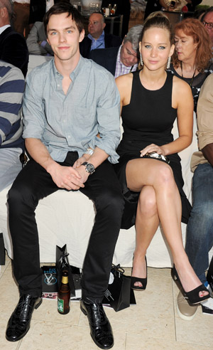 Nicholas Hoult and Jennifer Lawrence together in May 2012 (Getty Images)