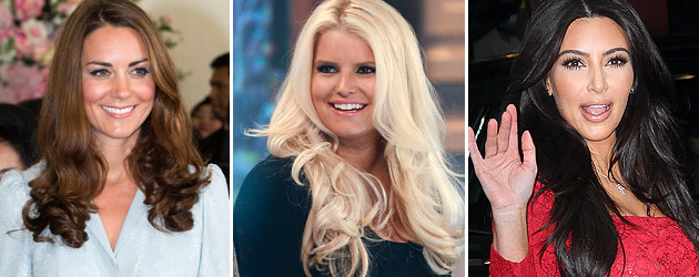 Babies on Board: Kate Middleton, Jessica Simpson, and Kim Kardashian.