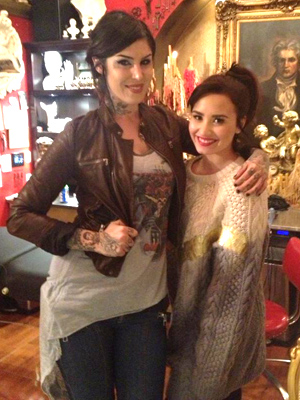 Kat Von D and Demi Lovato (Twitter)