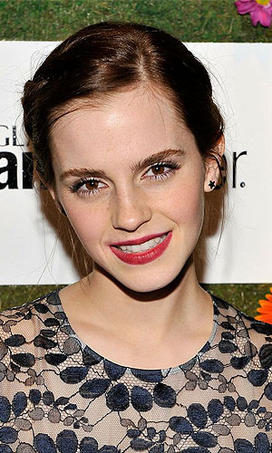 Classic red lips as worn by Emma Watson (Getty Images)