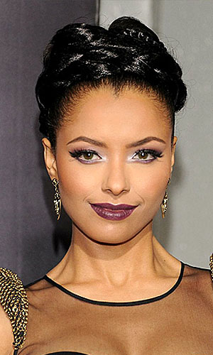 Vampy purple lips as worn by Kat Graham (Getty Images)