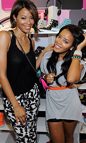 Vanessa and Angela Simmons show off Pastry Shoes. (Pastry)