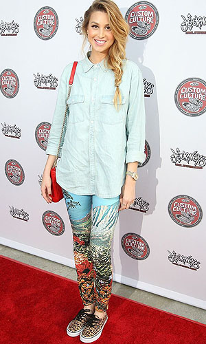 Patterned jeans as worn by Whitney Port (WENN)