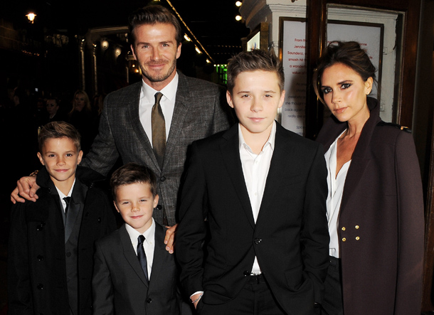 The Beckhams at the 'Viva Forever' press night last week (Getty Images)