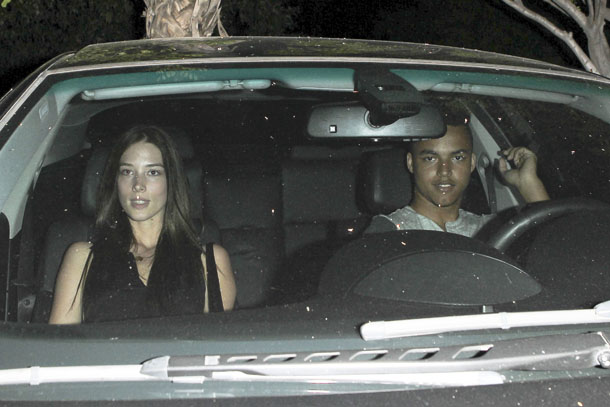 Connor Cruise out with a lady friend on July 31 (AKM Images/GSI Media)