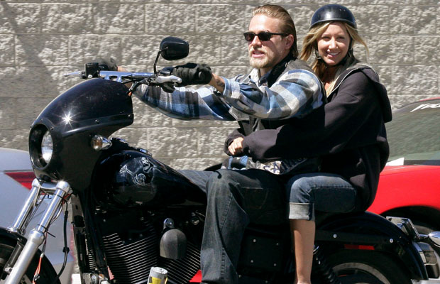 Tisdale with Sons of Anarchy's Charlie Hunnam. (Splash News)