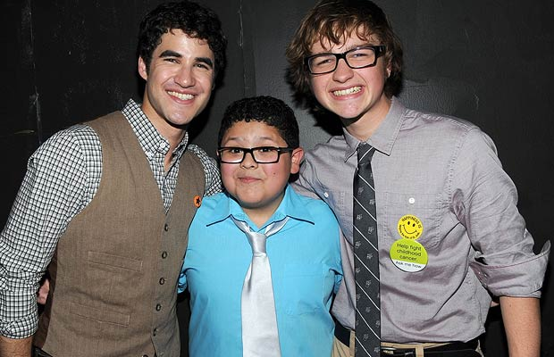 (L-R) Darren Criss, Rico Rodriguez, and Angus T. Jones say cheese. Michael Buckner/WireImage.com