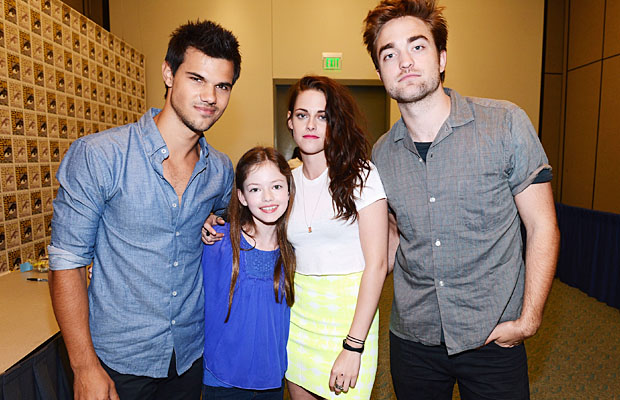 Lautner, Mackenzie Foy, Stewart, and Pattinson (Michael Buckner/Getty Images)