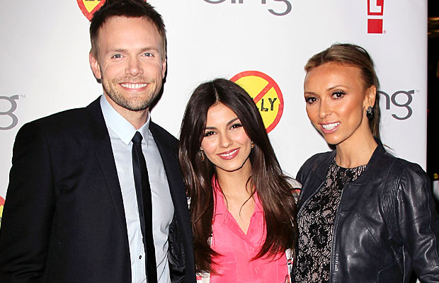 Joel McHale, Victoria Justice, and Giuliana Rancic attend the premiere. (David Livingston/Getty Images)