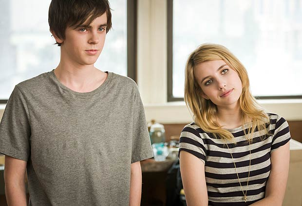 "Freddie Highmore and Roberts star in ""The Art of Getting By."" Fox Searchlight"