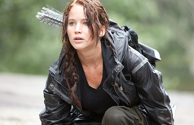 Jennifer Lawrence as Katniss in action. (Lionsgate Films)