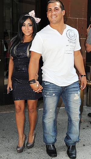 "Nicole ""Snooki"" Polizzi says that Jionni LaValle is the boy she wants to marry. - Doug Meszler/Splash News"